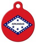 image: Arkansas Flag Pet ID Tag