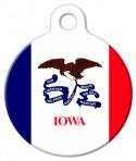 image: Iowa Flag Pet Identification Tag