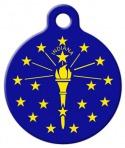 image: Indiana Flag Dog Identity Tag