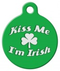 image: Kiss Me I'm Irish Pet Tag
