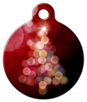 image: Bright ChristmasTree in Red Pet Tag