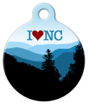image: I Love North Carolina Pet Identity Tag
