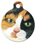 Calico Kitty Pet Tag