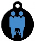image: Two Daddies and a Dog Custom Tag