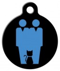 image: Two Daddies and a Cat Name Tag