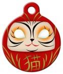 image: Daruma Cat ID Tag