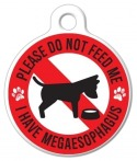 image: Megaesophagus Do Not Feed Dog Tag