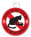 image: Megaesophagus Do Not Feed CatTag
