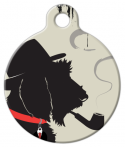 image: Doggy Noir Pet ID Tag