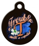 "image: Spell ""Trouble"" Pet ID Tag"