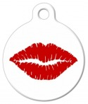 image: Lipstick Kiss Pet Collar Tag