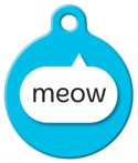 image: Blue Meow Name Tag for Cats