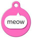image: Pink Meow Cat Name Tag