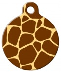 image: Giraffe Pattern Dog or Cat ID Tag