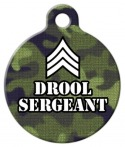 image: Drool Sergeant Dog Name Tag