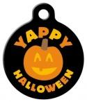 image: Yappy Halloween Dog Collar Tag