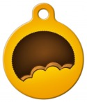image: Peanut Butter Cup Pet ID Tag