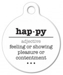 image: Happy Word Definition Pet Name Tag