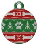 image: Ugly Christmas Sweater Designer ID Tag for Dogs