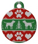 image: Tacky Doggie Christmas Sweater ID Tag for Dogs