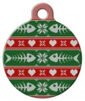 image: Fishbone Christmas Sweater ID Tag for Cats