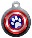 Canine America Shield Pet ID Tag