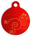 Red Swirl Pet ID Tag