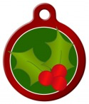 image: Christmas Holly Dog ID Tag