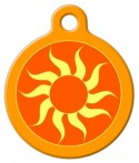 image: Orange Sun Dog Tag for Dogs