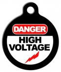 image: High Voltage Pet ID Tag