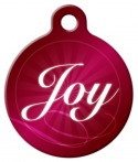 image: Holiday Joy Dog ID Tag