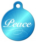 image: Holiday Peace Dog Collar Tag