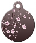 image: Asian Cherry Blossom Pet Identity Tag