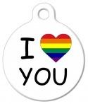 image: I 'Heart' You LGBT Pet Name Tag