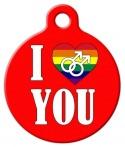 image: I Love You Gay Custom Pet Tag