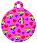 Queer Male Hearts Pet ID Tag