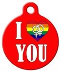 image: I Love You Lesbian Pet Tag