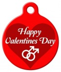 image: Happy Valentines Gay Dog Tag