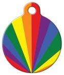 image: Pride Sunburst Pet ID Tag