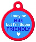 image: Big Friendly Pet Identification Tag