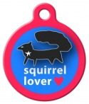 image: Black Squirrel Lover ID Tag for Dogs