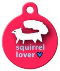 image: White Squirrel Lover Pet ID Tag