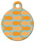 image: Orange Fish on Blue Custom ID for Cats