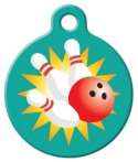 image: Bowling Strike ID Tag for Cats or Dogs