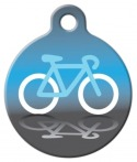 image: Bicycle Icon ID Tag for Dogs or Cats