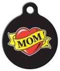Mom Heart Tattoo Pet ID Tag