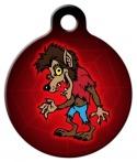 image: Sinister Wolfman Pet ID Tag