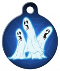 image: Three Ghostly Ghouls Pet ID Tag
