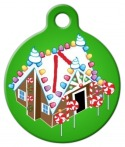image: Gingerbread House Pet Identity Tag
