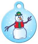 image: Jolly Snowman Pet Identification Tag